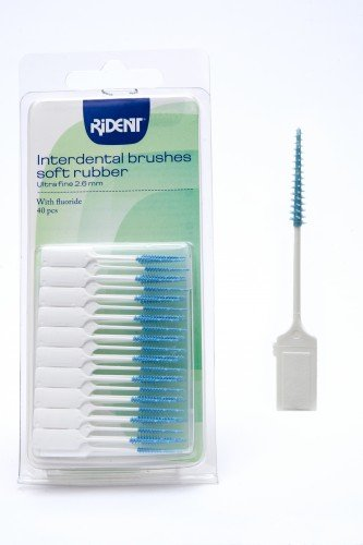 Rident Interdental Soft Rubber Brushes 40pcs