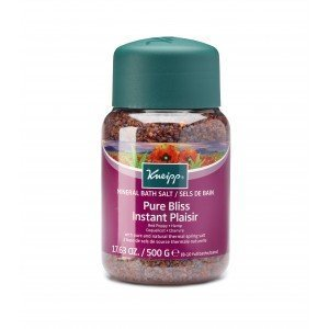 Kneipp Mineral Bath Salt Crystals Pure Bliss Red Poppy and Hemp (500g)