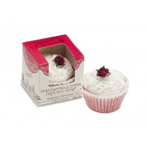 Patisserie de Bain Cupcake Soap Cranberries Cream  (1pc)