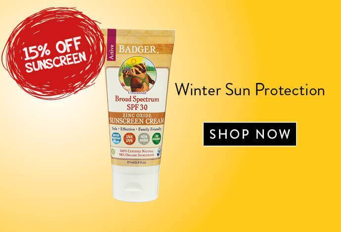 Badger Sunscreen Unscented SPF30