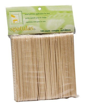 clean+easy Wooden Applicator Spatulas Small (100pk)
