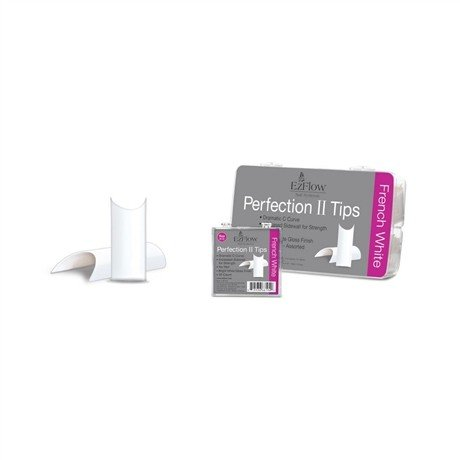 EzFlow Perfection Tips French White 100ct
