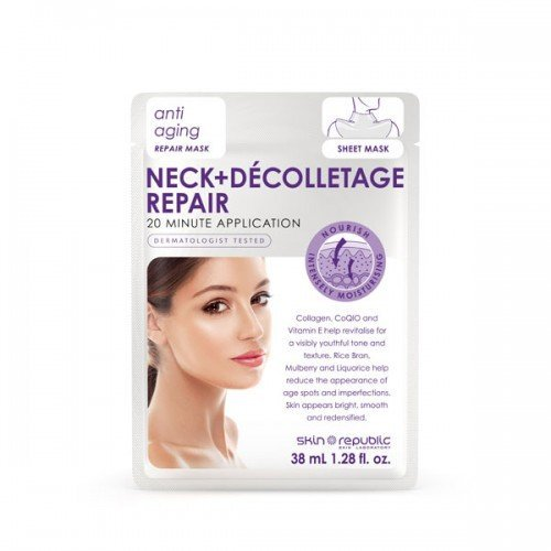 Skin Republic Face Mask Neck  Décolletage Repair (38ml) 10 pack
