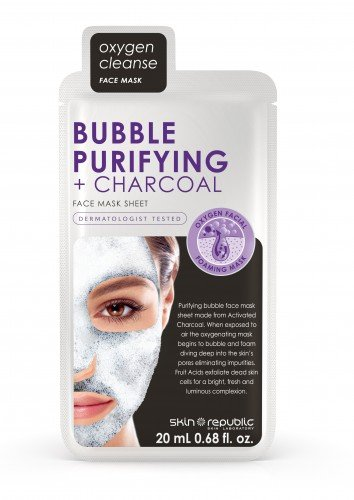 Skin Republic Face Mask Bubble Purifying  Charcoal (18ml) 10pk