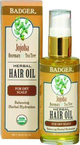 Badger Hair Oil Jojoba For Dry Scalp (59.1ml)