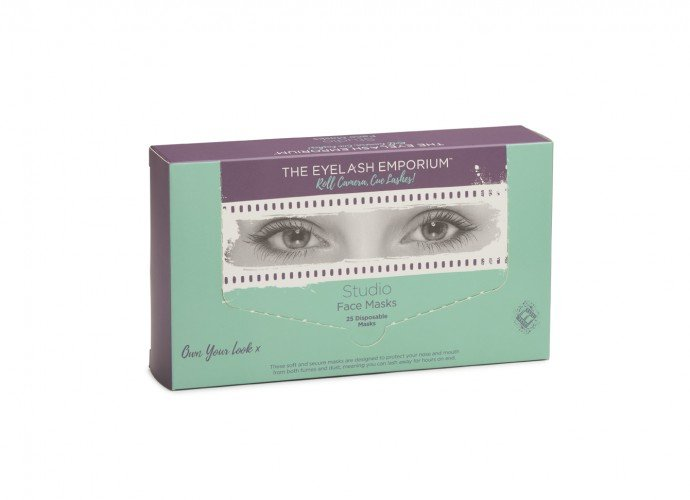 The Eyelash Emporium Studio Face Masks pack 25