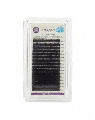 The Eyelash Emporium Tray Lashes B-Curl, 0.15mm, Mixed Lengths, 'Mink'