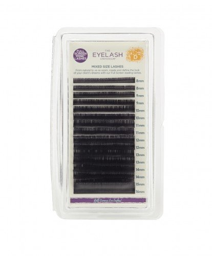 The Eyelash Emporium Tray Lashes D-Curl, 0.15mm, Mixed Lengths, 'Mink'