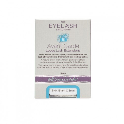 The Eyelash Emporium B-Curl Individual Lashes 0.15mm, 8mm, Jar (1g)