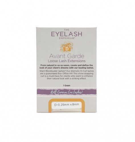 The Eyelash Emporium D-Curl Individual Lashes  0.25mm, 12mm, Jar (1g)