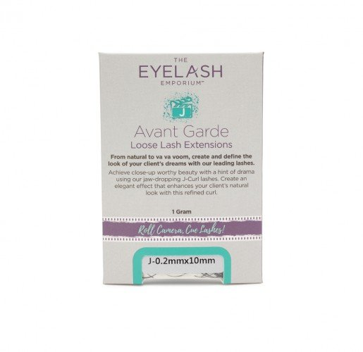 The Eyelash Emporium J-Curl Individual Lashes 0.20mm, 10mm, Jar (1g)