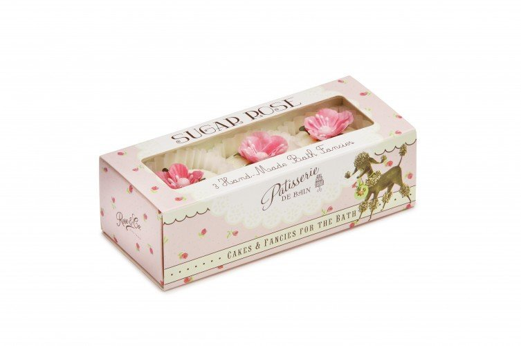 Patisserie de Bain Bath Fancies Trio Sugar Rose Set (3 x 45g)