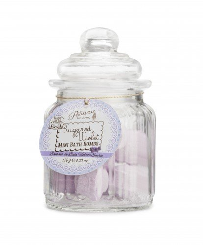 Patisserie de Bain Mini Bath Bombs Sugared Violet Sweetie Jar