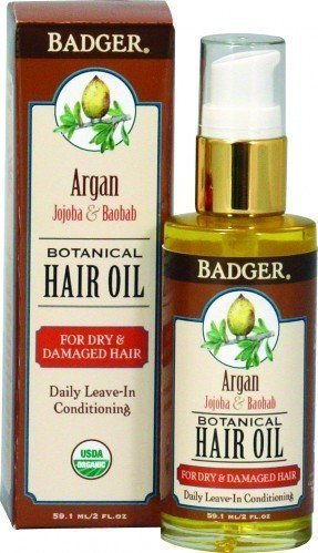 Badger Hair Oil Argan For Dry Damaged Hair