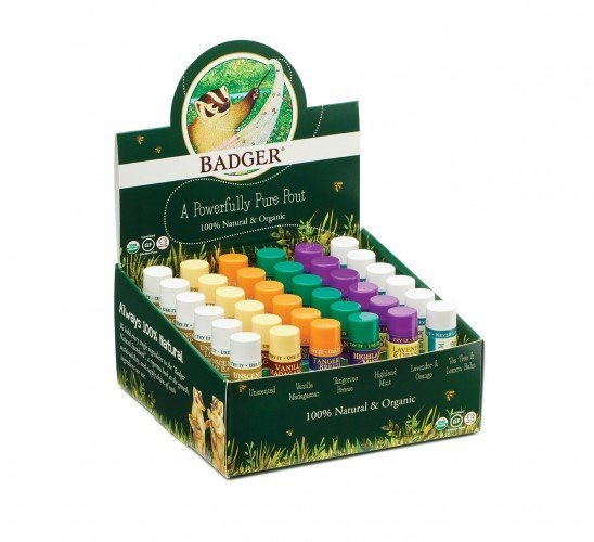 Badger Lip Care Stick Display Mixed (36 pc)