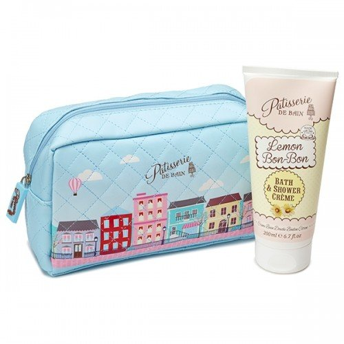 Patisserie De Bain Bag Gift Set Cosmetic Bag  Lemon Bon Bon Shower Crème (200ml)