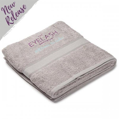 Costume Department Embroidered Grey Bath Sheet