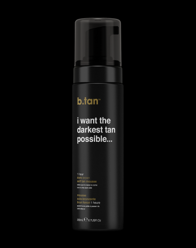 b.tan I want the darkest tan possible self tan mousse (200ml)