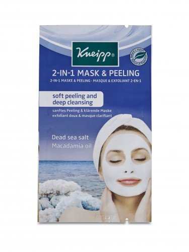 Kneipp Face Mask (15pc) 2-in-1 Peel Mask Dead Sea Salt  Macadamia 2 x 8ml