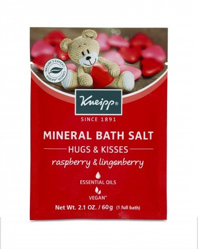 Kneipp Mineral Bath Salts 60g Hugs and Kisses (Raspberry   Lingonberry)