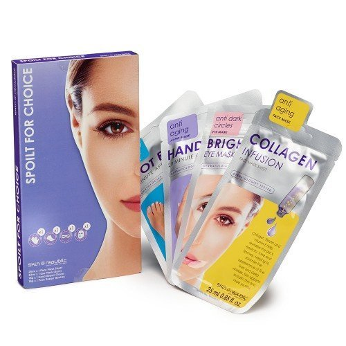 Skin Republic Gift set  Spoilt for choice (Hand, foot  Face) 4pc