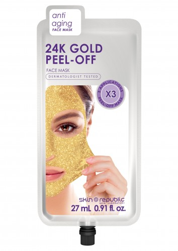 Skin Republic Face Mask Gold Peel-Off (3 Applications) (27ml) 10pk