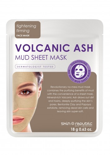 Skin Republic  Volcanic Ash Mud Sheet Face Mask