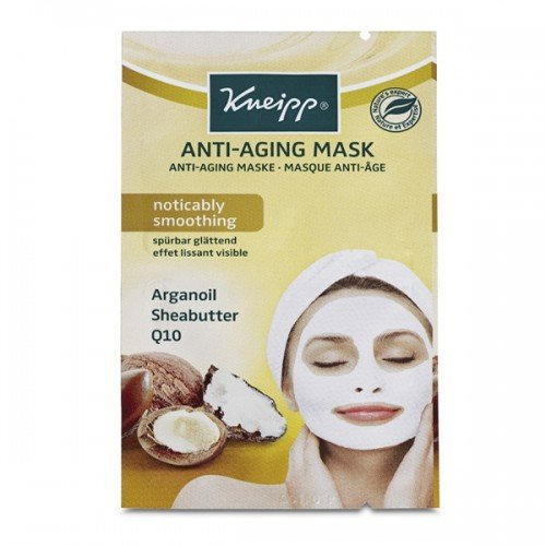 Kneipp Face Mask (15pc) Anti-Aging Mask Argan Oil Sheabutter  Q10 2 x 8ml