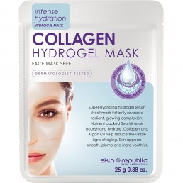 Skin Republic Hydrogel  Collagen Face Mask 25g 10pk