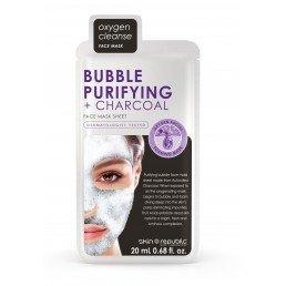 Skin Republic Face Mask Bubble Purifying + Charcoal Face Sheet Mask (10pk)