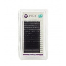 The Eylash Emporium Tray Lashes J-Curl, 0.15mm, Mixed Lengths, 'Mink'