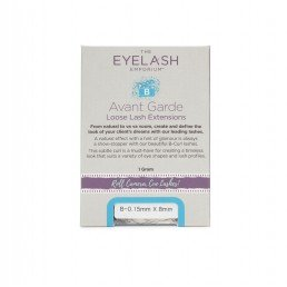 The Eyelash Emporium B-Curl Individual Lashes 0.25mm, 8mm, Jar (1g)