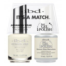 ibd It's A Match Duo Just Gel Polish & Advanced Wear Barcelona (14ml)