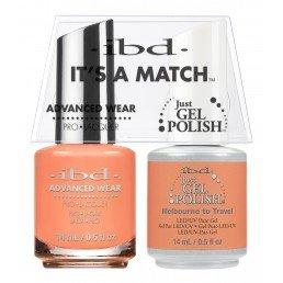 ibd It's A Match Duo Just Gel Polish & Advanced Wear Melbourne (14ml)