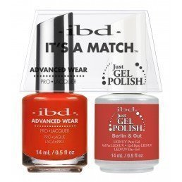 ibd It's A Match Duo Just Gel Polish & Advanced Wear Berlin (14ml)