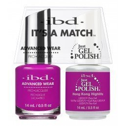 ibd It's A Match DuoJust Gel Polish & Advanced Wear Hong Kong (14ml)