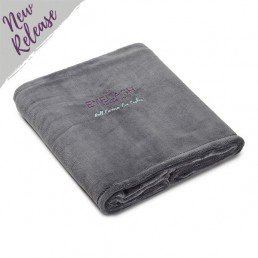 Costume Department Embroidered Dark Grey Blanket