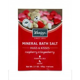 Kneipp Mineral Bath Salts 60g (12pc) Hugs and Kisses (Raspberry   Lingonberry)