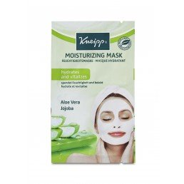 Kneipp Face Mask (15pc) Moisturising Mask  Aloe Vera  Jojoba 2 x 8ml