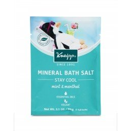 Kneipp Mineral Bath Salt Crystals Stay Cool - Mint and Menthol (12pc x 60g)