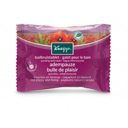 Kneipp Sparkling Bath Tablet Pure Bliss Red Poppy Hemp