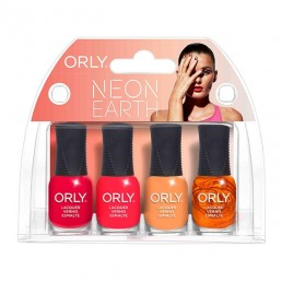 ORLY Nail Polish Neon Earth 4pc Mini Kit