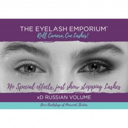 The Eyelash Emporium Marketing A3 xD Russian Volume Poster
