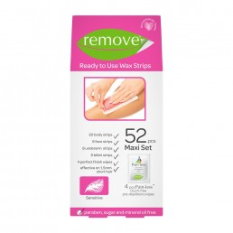 Remove Wax Strips  52 PCS Maxi Set - Sensitive