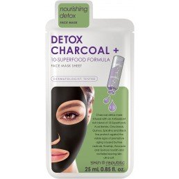 Skin Republic Face Sheet Mask  Detox Charcoal + 10 Superfood Formula 25ml
