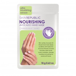 Skin Republic Hand Mask Nourishing Avocado (18g) 10pk