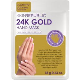 Skin Republic Hand Mask 24K Gold Foil (18g) 10pk