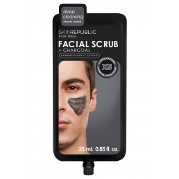 Skin Republic  Mens Charcoal Facial Scrub