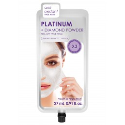 Skin Republic Face Mask Platinum Peel-Off (3 Applications) (27ml) 10pk