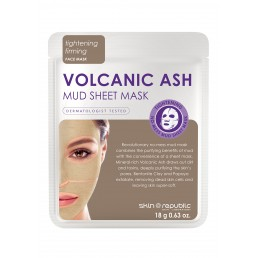 Skin Republic Face Mask Volcanic Ash Mud Sheet Mask (18g) 10pk